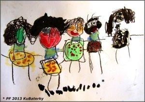 Nakreslila to Viktorka,  je jí 4,5 a je to celá její rodina