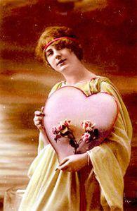 Pohlednice ke dni Sv. Valentýna z roku 1910