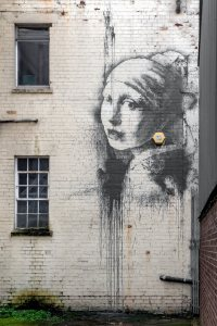 New Banksy 'earring' mural appears in Bristol Harbourside
