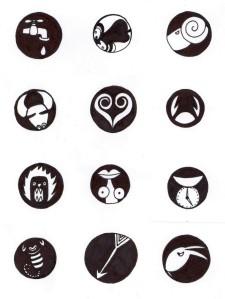 Jak maj bejt seřazený ty ikonky znamení zvěrokruhu